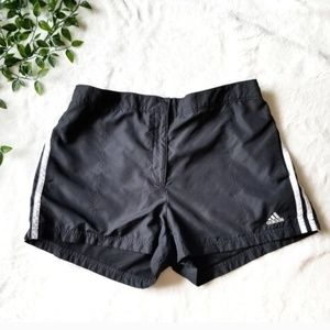 Adidas Classic Stripe Lined Athletic Shorts L